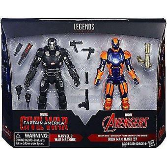 Marvel Legends 6 palce Captain America: Akční sada pro občanskou válku (Válečný stroj a Iron Man Mark