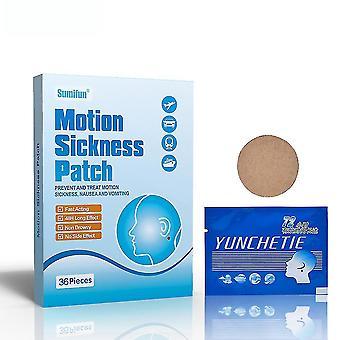 36pcs Motion Sickness Patch Anti Nausea Travel Pain Relief Car Sea Air