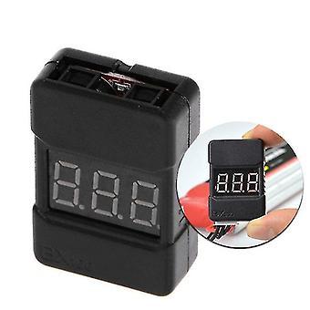 BX100 1-8S Lipo Tester napätia batérie / Nízkonapäťový bzučiak Alarm / Kontrola napätia batérie s duálnym