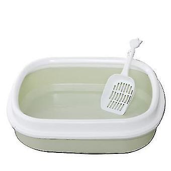 Macska alom doboz félig zárt Macska WC alom doboz macska alom lapáttal (Világoszöld)