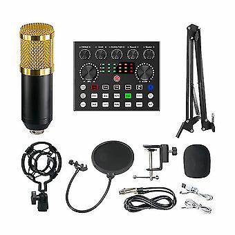 Live sound card bm800 v8s bluetooth mixer condenser microphone audio sound card live broadcast