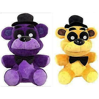 Nights At Freddys Purple Shadow And Gold Bear Plush Doll Toy-1