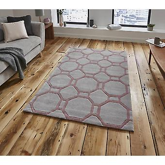 Noble House 4338 Grey Rose  Rectangle Rugs Plain/Nearly Plain Rugs