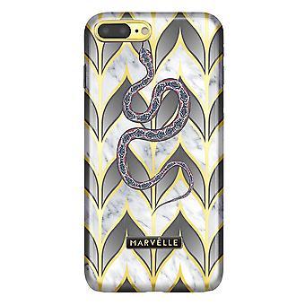 iPhone 7/8 Pluss Marvêlle Magnetisk Skall Gyldne Blader