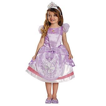 Sofia ensimmäinen Disney Deluxe fantasia Royal Princess taapero tyttöjen puku 3T-4T
