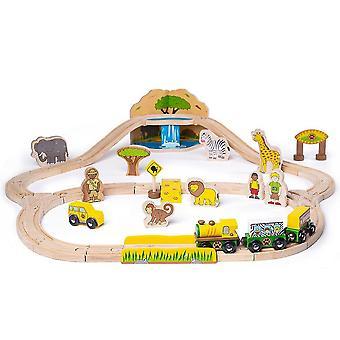 Toy trains train sets bigjigs rail safari train set - 38 play pieces