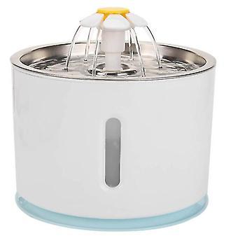 Husdjur vatten dispenser med rostfritt stål bricka, Auto själv-power off när brist på vatten (Blå)