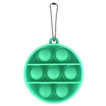 Adulto pop spinge bolla fidget portachiavi sensoriale per alleviare l'anti stress e l'ansia (T)