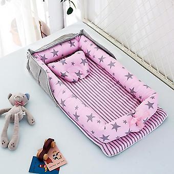 Mimigo Baby Nest Baby Bassinet Pour Lits de Chevet -Baby Lounger - Respirant &Hypoallergénique Co-sleeping Baby Bed - Lit portable 100% Coton Pour