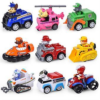 Paw Patrol Dog Puppy Car Patrulla Canina Toys Action Figures Model Toy Chase Marshall Ryder Vehicle