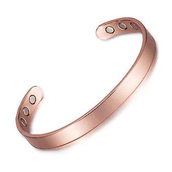 Rode koperen armband womens armbanden magnetische armband 8 mm brede dames verstelbare sieraden