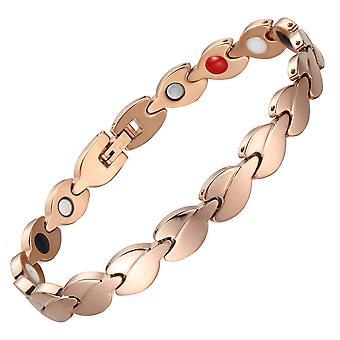 Roestvrij staal armband magnetische energie armbanden 4 in 1 titanium stalen armbanden vrouwen sieraden