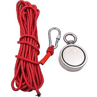 Imán de boro de hierro de neodimio con cuerda de pesca