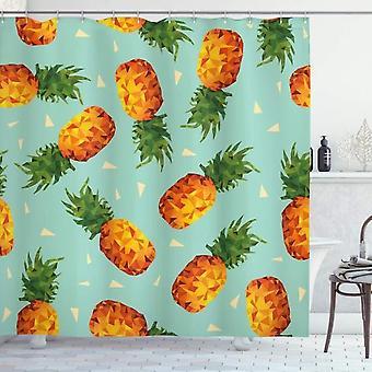 Retro Shower Curtain, Retro Summer Beach, Fabric Bathroom Decoration Set With Hooks Olive Green 120x180 Cm