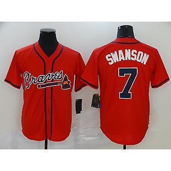 Miesten Baseball Jersey #5 Freddie Freeman #7 Swanson Braves Pelaaja Jersey Nuorten T-paita Peli fanit Urheilu Baseball Uniforms S-3xl