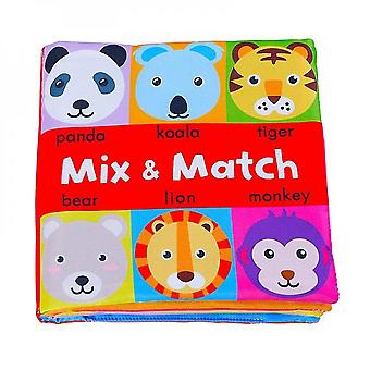 Qian 0-24 Months Baby Soft Book Educational Toys Cognitive Color Objects Early Education-a