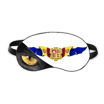 Andorra Flag National Emblem Eye Head Rest Dark Cosmetology Shade Cover