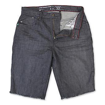 Marche de vraie droite Denim LRG Monochrome Shorts gris frisolée lavage
