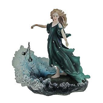 Dechainee By Melanie Delon Rebellious Woman In Green Statue