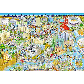 Gibsons Londres From Above Jigsaw Puzzle (500 pièces)