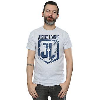 DC Comics Men's Justice League Movie Indigo Logo T-Shirt