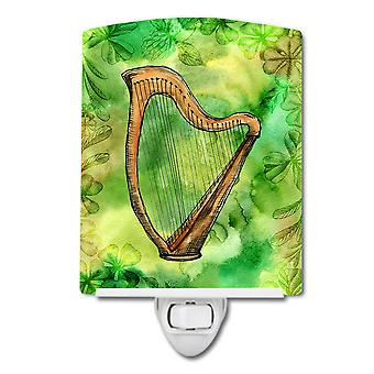 Carolines Treasures  BB5763CNL Irish Harp Ceramic Night Light