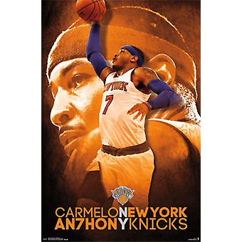 New York Knicks - C Anthony 14 Poster Plakat-Druck