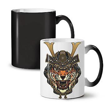 Warrior Tiger Cool Animal NEW Black Colour Changing Tea Coffee Ceramic Mug 11 oz | Wellcoda