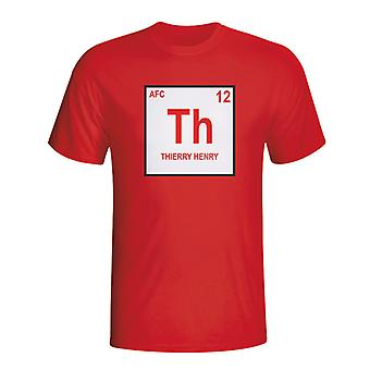 Thierry Henry Arsenal Periodic Table T-shirt (red) - Kids