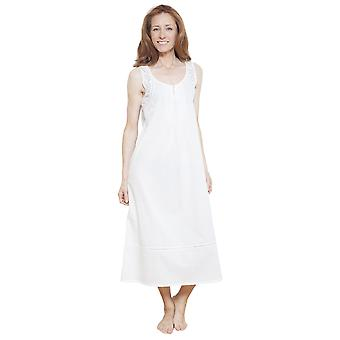 Cyberjammies 1233 Women's Nora Rose White Solid Colour Night Gown Loungewear Nightdress
