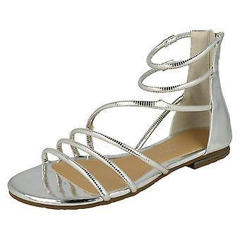 Damas sandalias de Gladiador planas de sabana