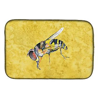 Carolines Treasures  8851DDM Bee on Yellow Dish Drying Mat