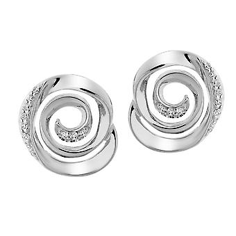Orphelia Silver 925 ørering Spiral Zirc ZO-7087