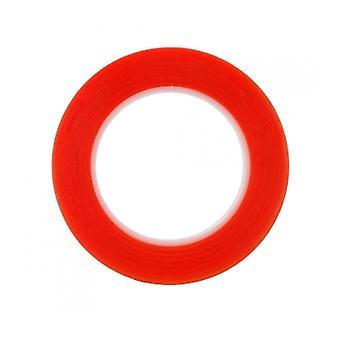 Rød dobbeltsidig teip 2mm 25M