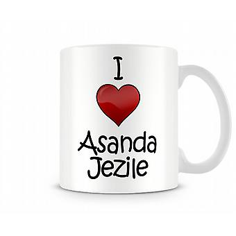 I Love Asanda Jezile Printed Mug