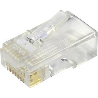 Düz kablo Fişi için korumasız modüler fiş, düz pim sayısı: 8P8C 940-SP-3088 Glassy BEL Stewart Konektörler 940-SP-3088 1 adet(ler)