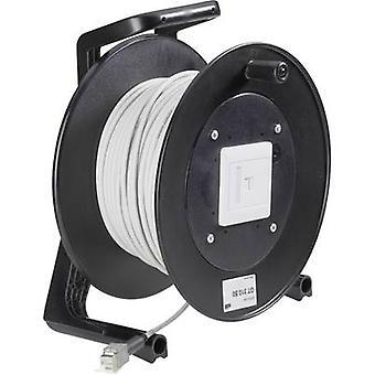 EFB Elektronik RJ45 Networks Cable reel CAT 5e F/UTP 90.00 m Grey Flame-retardant