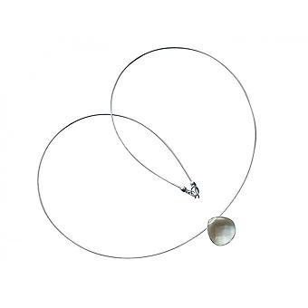 GEMSHINE kvinners halskjede lys blå Aquamarine kvarts kjede 925 sølv saken