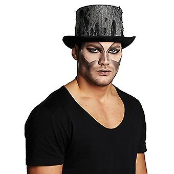 Valec Halloween cca 12cm vysoký klobúk príslušenstvo Karneval Halloween