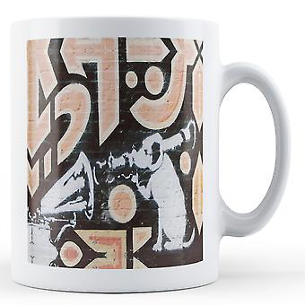 Banksy Printed Mug - HMV Dog Rocket Launch - BKM294