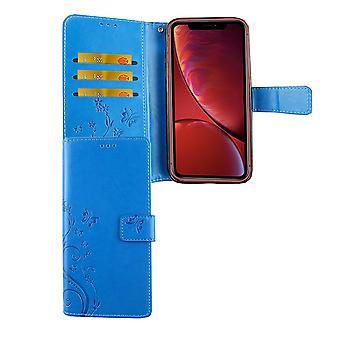 Apple iPhone card cover blue XR mobile case bag cover Flip case