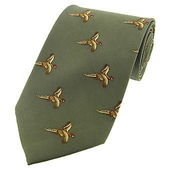 David Van Hagen volo fagiano cravatta di seta di paese - paese verde
