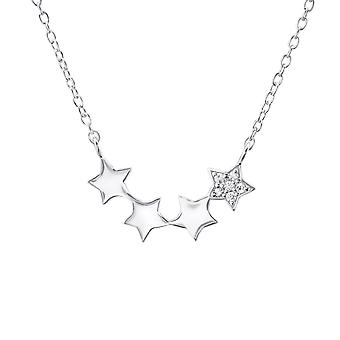 Star - 925 Sterling hopea Jewelled kaulakorut - W23307x