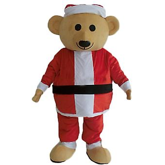 SPOTSOUND Teddy bear mascot plush, dressed in Father Christmas