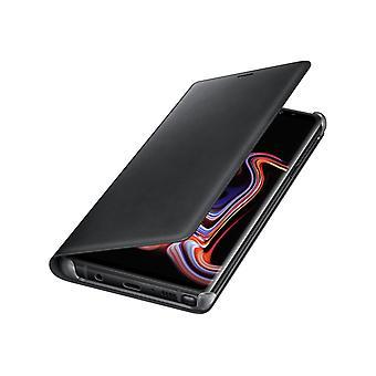 Samsung Galaxy Note 9 Lær Vis Cover-svart