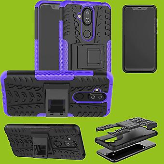 Para Nokia 8.1 2018 (X 7) 6,18 pulgadas híbrido caso 2 pieza SWL exterior accesorios bolso púrpura funda protección