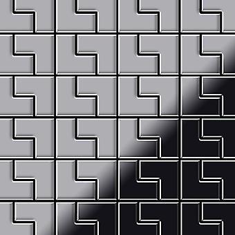Metalowa mozaika ze stali nierdzewnej Alloy Kink-S-S-MB