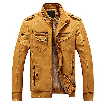 Cloudstyle Men's Jacket PU Faux Leather Motorcycle Jacket