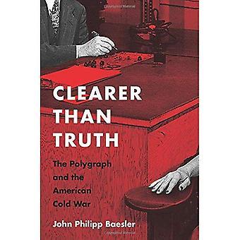 Tydligare än sanningen: Lögndetektor och det amerikanska kalla kriget (kultur och politik i det kalla kriget och okända)