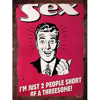 Vintage Metal Wall Sign - Sex version 2